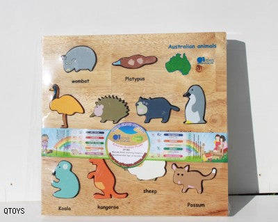 QToys Australian Animal Puzzle With Package