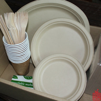 Compostable / Biodegradable Party Box for 25