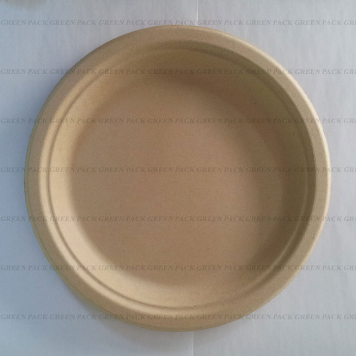 9 Inch Bamboo pulp plate (pack of 25)
