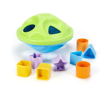 Green Toys Shape Sorter with Different Shape Patterns