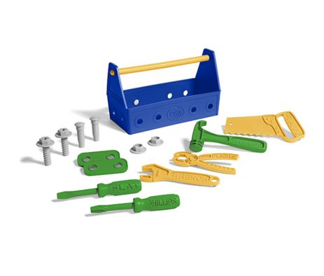 Green Toy Tool Set-Blue