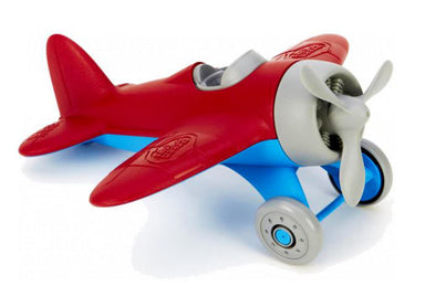 airplane toy with red on top