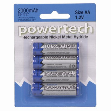Battery AA NiMh 2000mAh 4pk