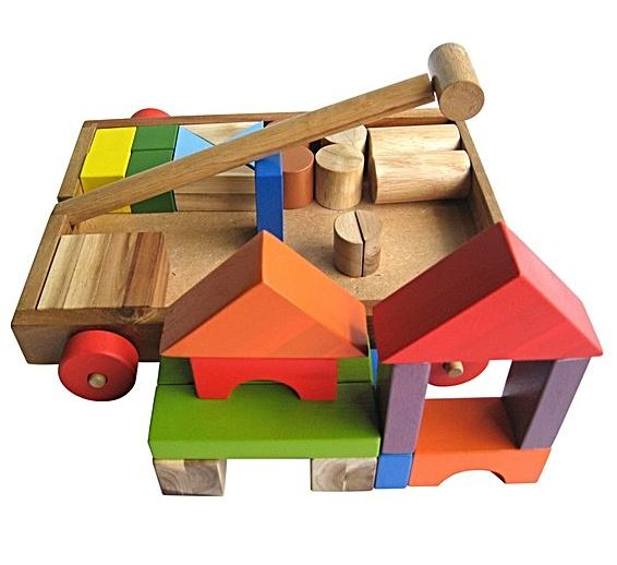 QToys Blocks Wagon- Assembled