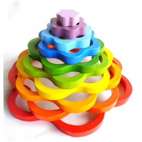 Qtoys Rainbow Flowers