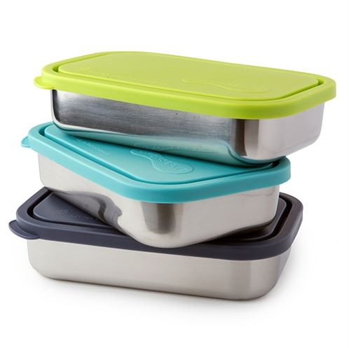 U-Konserve Stainless Steel Bento Style Divided Rectangle Lunchbox
