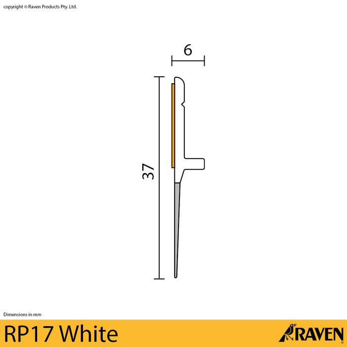 Raven Stick-on door seal RP17