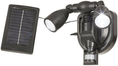 Twin LED Solar Powered Sensor Spotlight
