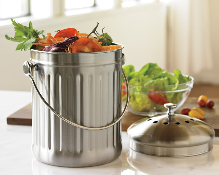 Stainless Steel Benchtop Compost Bin