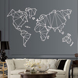 Abstract World Map Wall Sticker