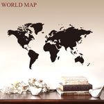Solid World Map Sticker