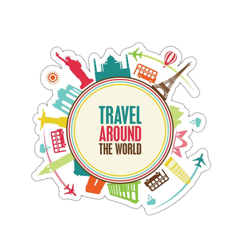 Travel Around The World Sticker