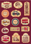 Vintage London Stickers