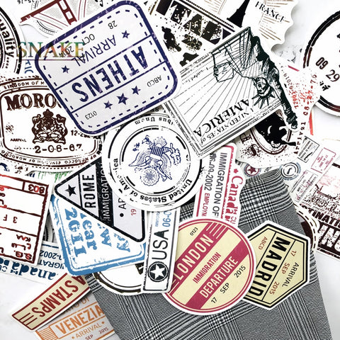 Retro Boarding Pass Stickers