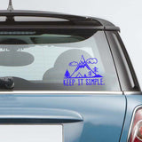 Keep It Simple Travel Sticker