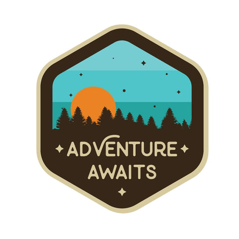 Adventure Awaits Sunset  Sticker