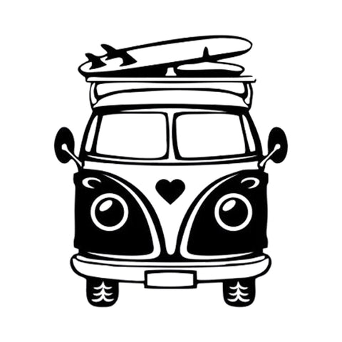 Summer Beach Camper Sticker