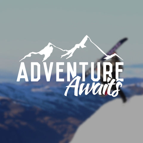 Adventure Awaits Sticker