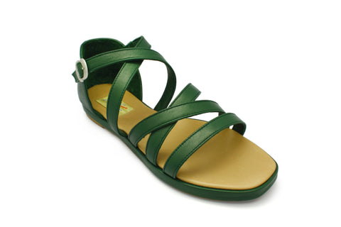 Ruth Forest Green 1950s Sandals. Long Gone Shoes Vintage Inspired Shoes.