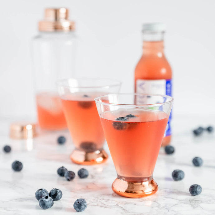 Blueberry Kombucha Martini