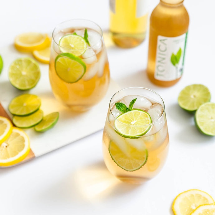 Green Tea Kombucha White Wine Spritzer