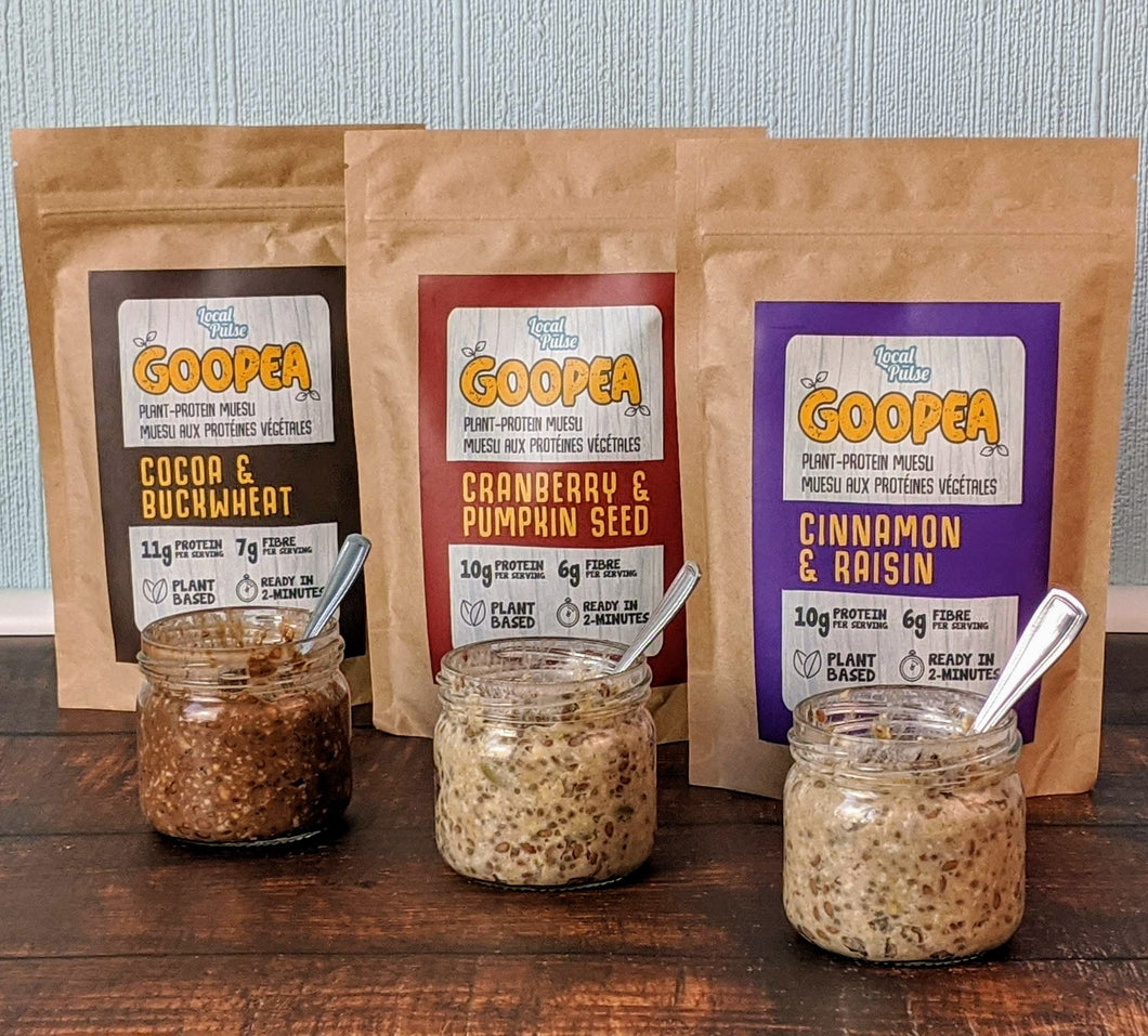 GOOPEA BIG TRIO - All 3 Flavours of Plant-Protein Muesli (SAVE 10%) - Local Pulse