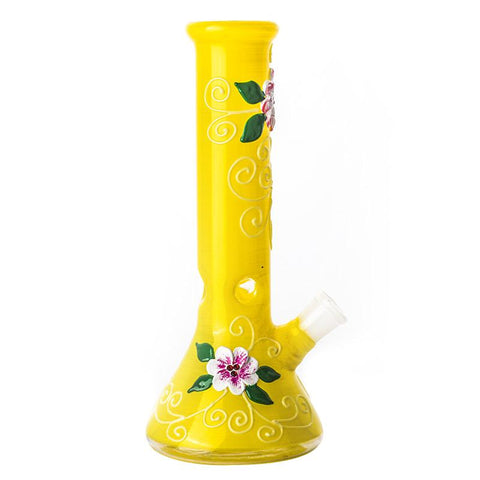 10 Yellow Glass Beaker Bong  Portable Bongs For Sale  Free Shipping