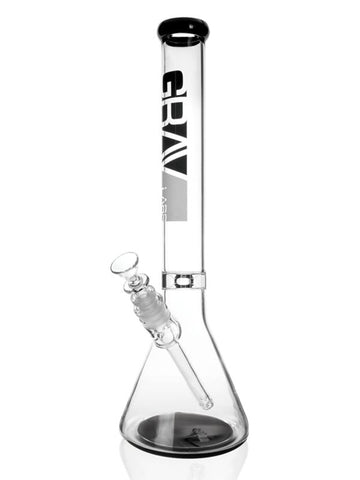 "Grav Labs 16"" Beaker Water Pipe - Black"