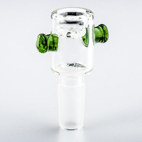 14mm Male Bong Bowl With Green Handles | For Sale | Free Shipping