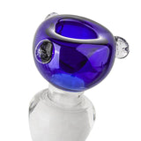 18mm Male Cobalt Round Bong Bowl | Slides For Sale | Free Shipping
