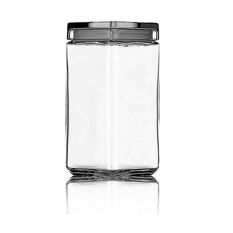 Anchor Hocking Stackable Glass Jar With Glass Lid