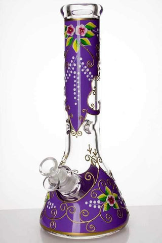 "13"" Flower Artwork Beaker Bong 