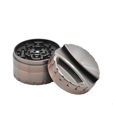 80Mm 4 Layer Grinder With Ashtray & Joint/paper Dispenser On Lid Aluminium