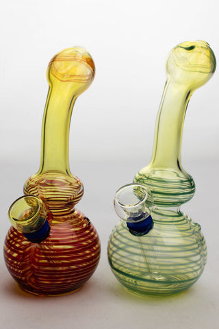 "6"" changing color glass water bong"