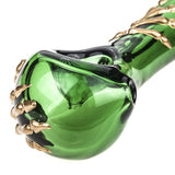 Bone Claw Green Glass Spoon Pipe  Smoke Shop Online  Free Shipping