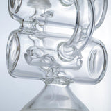 Clear Glass Dual Chamber Dab Rig | Wax Rigs For Sale | Free Shipping