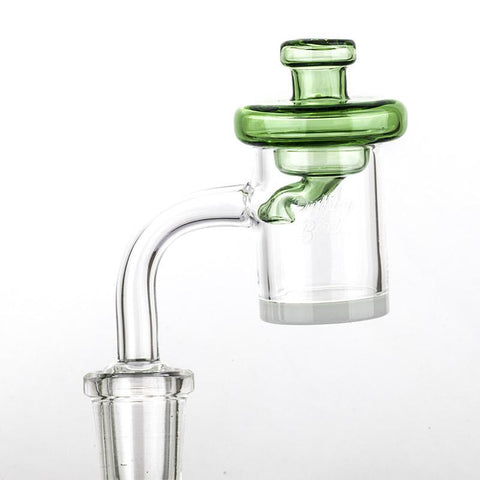 Green Disc Glass Carb Cap For Sale  For Quartz Banger  Free Shipping