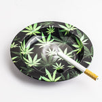 Marijuana Leaf Tin Ashtray | Smoke Ashtrays For Sale | Free Shipping