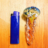 Nano Inside-Out Pipe w/ Spiral Glass Orbs