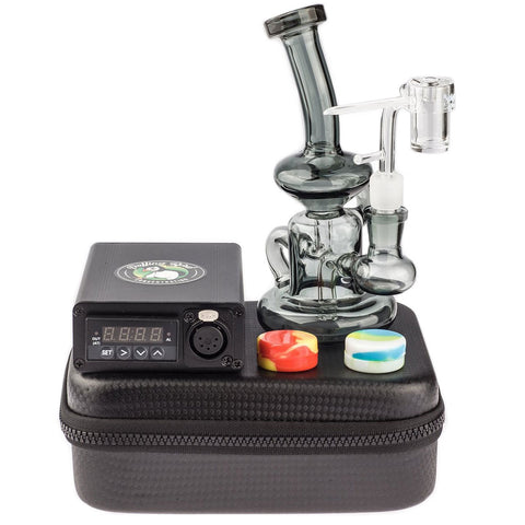 Quartz Enail W/ Grey Recycler Dab Rig Bundle