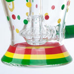 Rasta UFO Perc Glass Bong | Heady Glass Bongs For Sale | Free Shipping