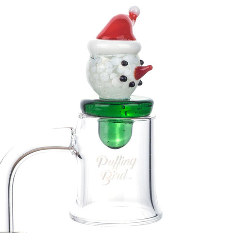Snow Man Christmas Themed Carb Cap - 420 Christmas Gifts - Puffing Bird - Online Headshop