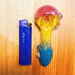 Dichroic Glass Pipe with Marble Grip Weed Bowls For Sale