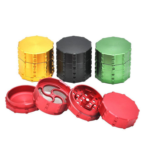 Notch Gear Novelty Aluminium 4-Layer Herb Grinder 60 Mm (4 Colors)