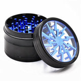 Thunder Blade Novelty Herb Grinder 4-Layer 63 Mm (5 Colors) - Blue