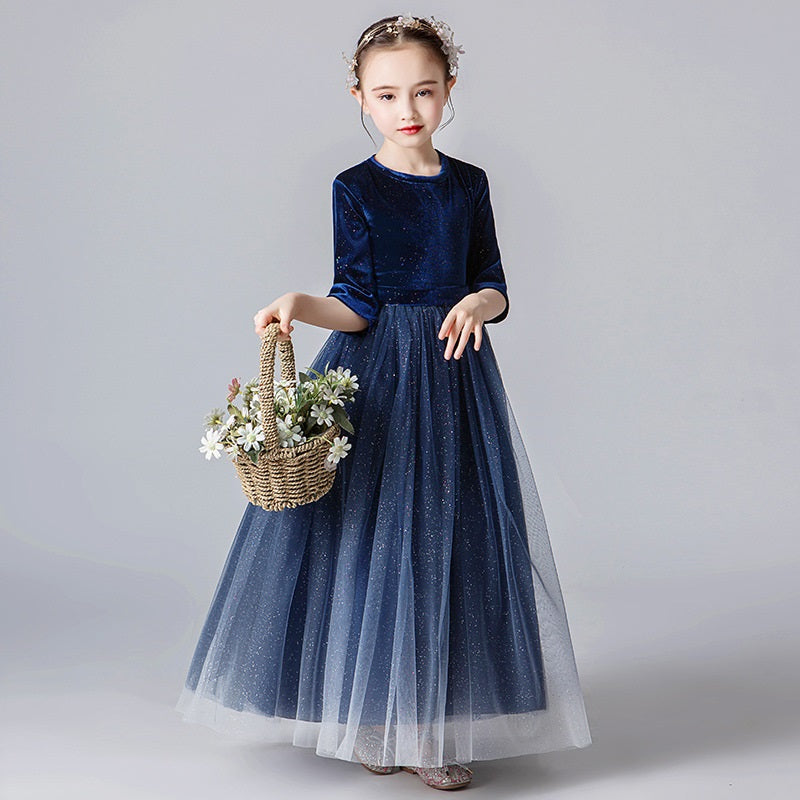 party dress flower girl princess skirt girl puffy gown little girl wedding dress host piano costume pageant dresses