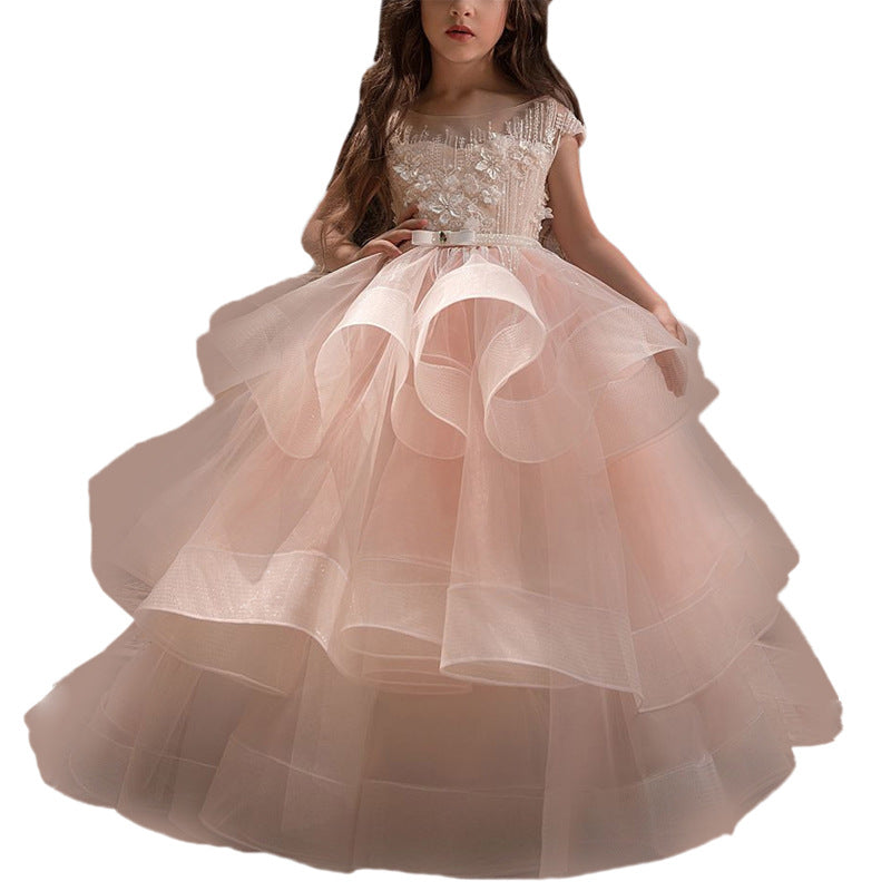 Long Little Girls Pageant Dresses for Wedding Kids First Communion Prom Ball Gown fancy dresses Birthday Dresses