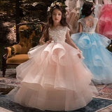 First Communion Long Little Girls Pageant Dresses for Wedding Kids Prom Ball Gown fancy dresses Birthday Dresses