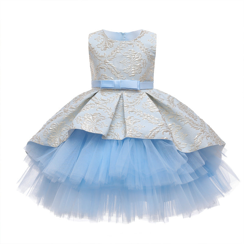 Children's Flower Girl Dresses Kids' Christmas Gown Sleeveless Skirt Multi-colors Holiday Dress