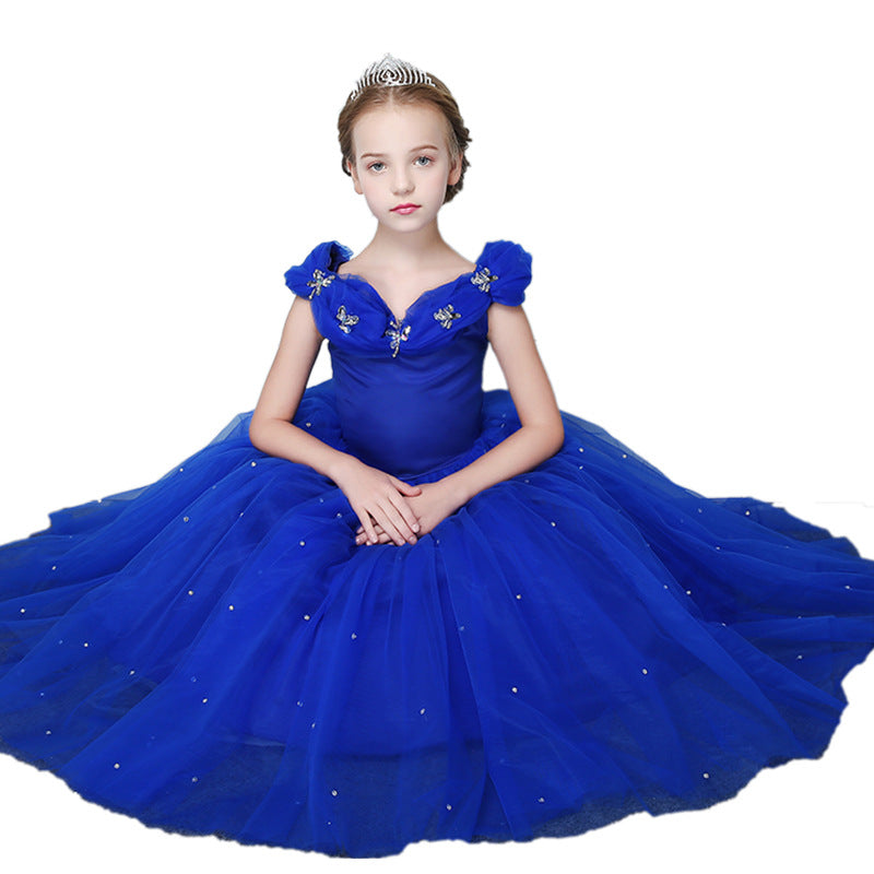 Little Girls Dresses Cinderella Princess Pageant Ball Gowns Kids Tulle Flower Girls Dresses Princess Dresses